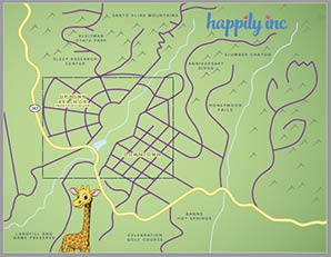 Happily Inc Map